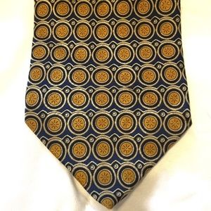 Valentino Accessories - Valentino 100% Silk Tie Made in Italy Gold Blue